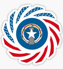 Northern Mariana American Multinational Patriot Flag Series Sticker