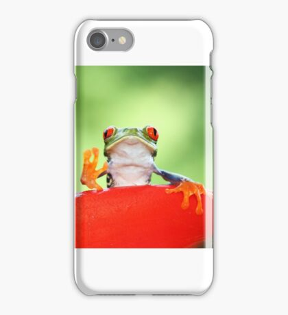 """""""Live long and Prosper"""" Red-eyed Tree Frog iPhone Case/Skin"""