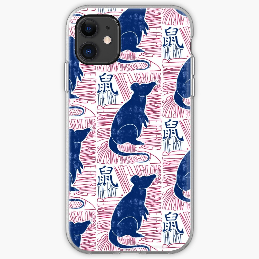 The Rat Chinese Zodiac Sign iPhone Soft Case