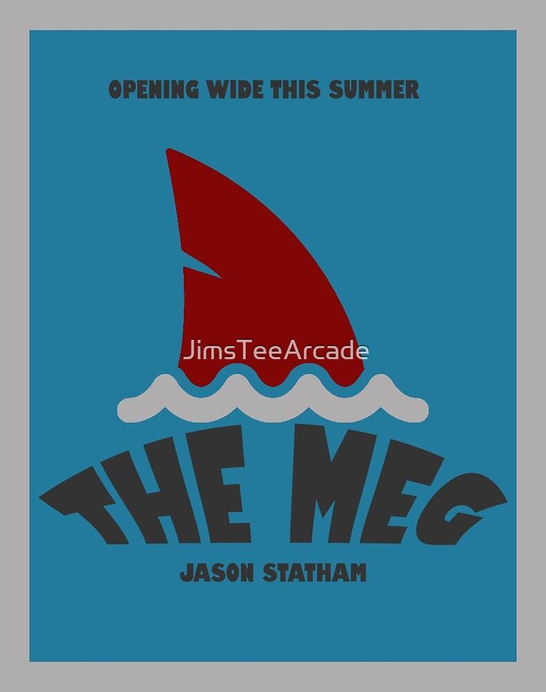 The Meg Movie Art Poster by JimsTeeArcade