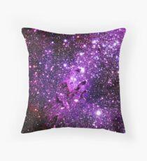 The Eagle Nebula / Pillars of Creation Purple Throw Pillow