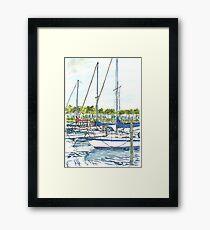 Tampa Yacht Club Marina Framed Print