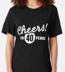 Endlich 40 Geschenk Geburtstagsgeschenk Humor Damen Top Shirt 40 Geburtstag