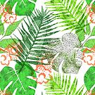Modern Floral Leaf Tropical Greenery Design by Artification