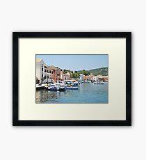 Gaios harbour, Paxos Framed Print