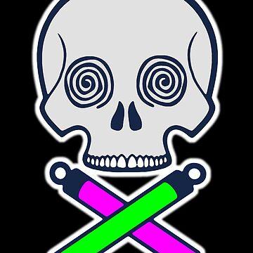 Jolly Roger Glowsticks by SarahJoncas