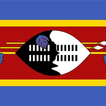 Swaziland Flag Kingdom of Eswatini by sweetsixty