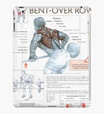 Barbell Bent-Over Row - Exercise Diagram iPad Case/Skin