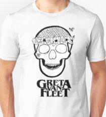 Greta Van Fleet - Flower Power skull  Unisex T-Shirt