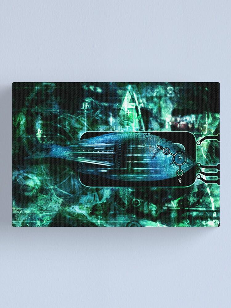Alternate view of RaZorFish Canvas Print