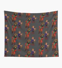 Guuybrush with LeChuck's voodoo doll Wall Tapestry
