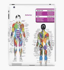 Female Muscle Diagram - Anatomy Chart iPad Case/Skin