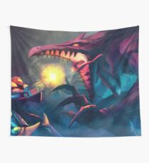 Super Metroid Face-Off  Wall Tapestry
