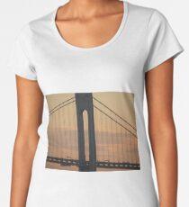 #bridge, #architecture, #water, #city, #usa, #california, #WerrazanoNarrowsBridge, #suspension, #river, #sky, #bay, #landmark Women's Premium T-Shirt
