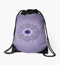Dreams in purple Drawstring Bag