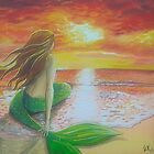 Mermaid Watching the Sunset by Wendy Crouch
