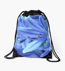 flouro agapanthus Drawstring Bag