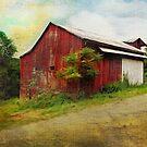 Red Barn Grunge by Krista Droop