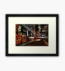 Laneway Moods. Framed Print