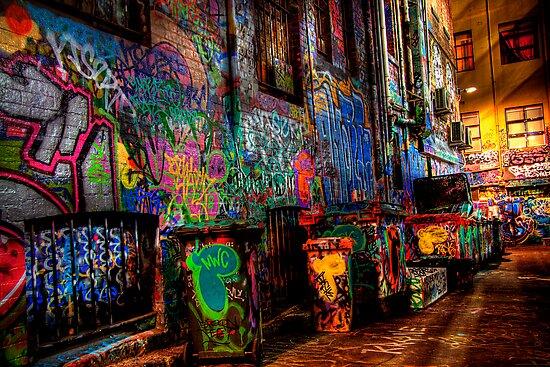 Laneway Moods 2. by Steve Chapple