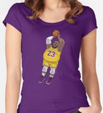 LeBrownie - icon jersey Women's Fitted Scoop T-Shirt