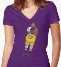 LeBrownie - icon jersey Women's Fitted V-Neck T-Shirt
