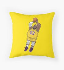LeBrownie - icon jersey Throw Pillow