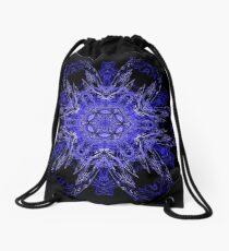 Blue - II - Drifting kaleidoscope Drawstring Bag