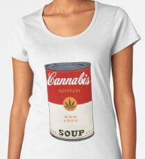 cannabis soup  Premium Scoop T-Shirt