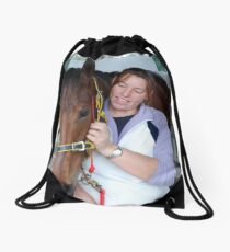 Happy strapper and Kiriasis Drawstring Bag