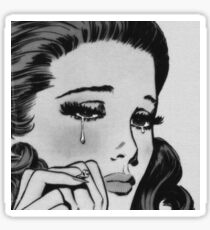 crying girl Sticker