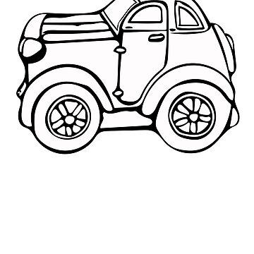 Cartoon Car Coloring T Shirt Back To School Gift by SmartAndPunny