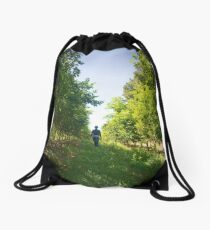 Walking through the lemon grove Drawstring Bag