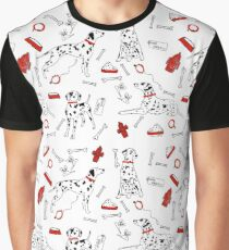 black, white & spotty pattern Graphic T-Shirt