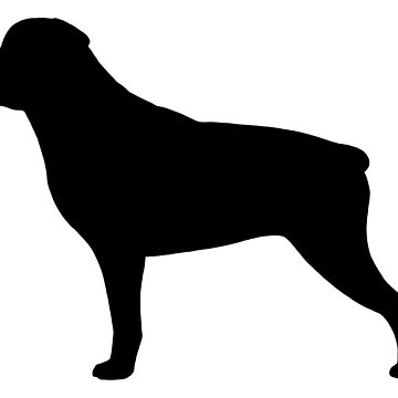 Black Rottweiler Silhouette(s) by ShortCoffee