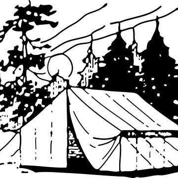 Camping Black and White by ktthegreat
