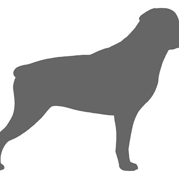 Grey Rottweiler Silhouette(s) by ShortCoffee