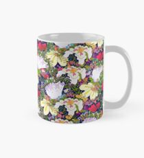 Flowers gone WILD! All kinds DARK BLUE Mug