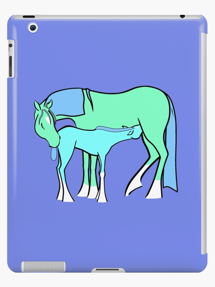 Mare and Foal 9 by Clare Wuellner