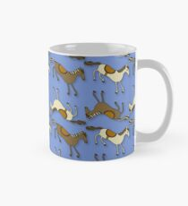 Horsing Around!! Horses Riding Periwinkle purple pattern! Mug
