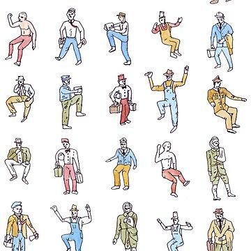 Itty Bitty Working Men Caught Dancing on the Job Again by ImaginaryAnimal