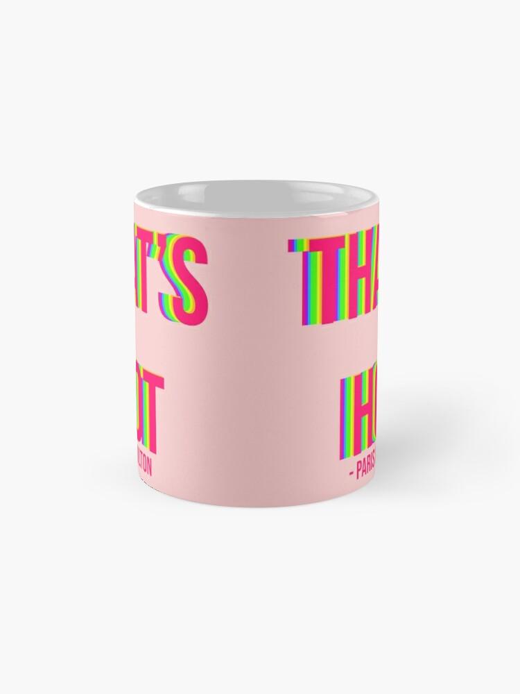 Alternate view of Paris Hilton That's Hot Rainbow Text Print Mug