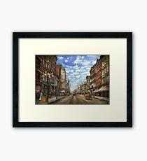 City - NY - Main Street. Poughkeepsie, NY - 1906 Framed Print
