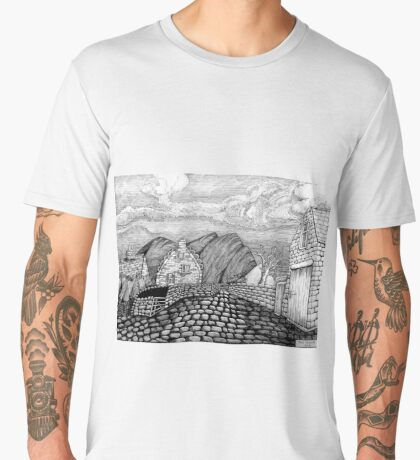 271 - STYLISED CREGNEASH VIEW - DAVE EDWARDS - INK - 2018 Men's Premium T-Shirt