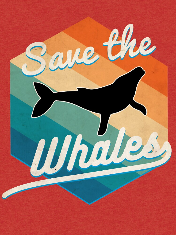 aec463fac Save the whales retro vintage 70s style