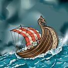 Viking Ship  by Nathan Smith