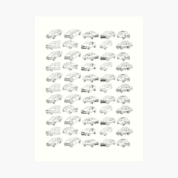 All My Friends' Cars! Art Print