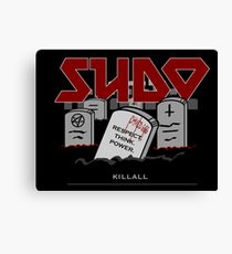 SUDO - Heavy Metal Sysadmin Canvas Print
