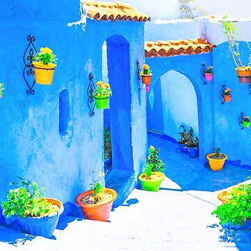 chefchaouen city by med-artiste