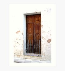 """Spanish Window"" Art Print"